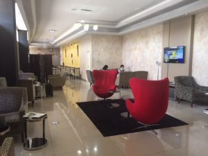 Kenya Airways business class lounge in Nairobi